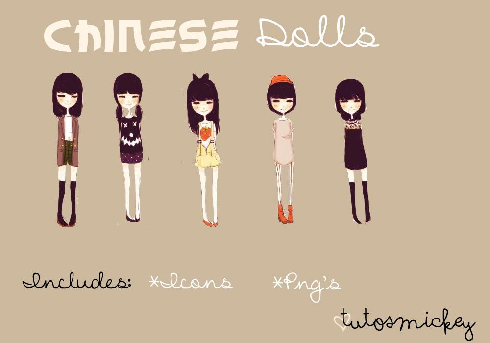 Chinese Dolls ~ Monas Chinas by TutosMickey