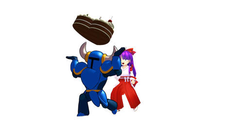 Shovel Knight 4th Anniversary (featuring Reimu, a  by BMSKid
