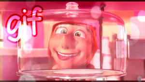despicable me 2 gif - Lucy's funny face