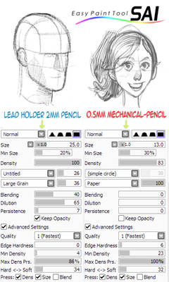 Paint Tool SAI Pencil Brushes