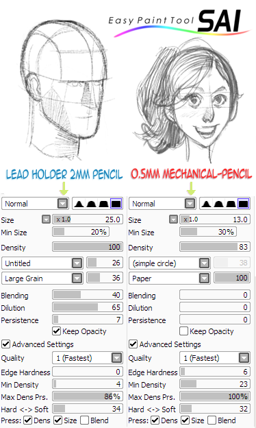 Paint Tool SAI Pencil Brushes by BerolEagle ...