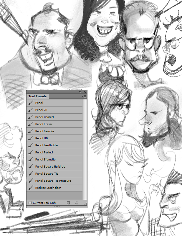 Drawing Lines In Photo Cc : Photoshop cs cc pencil brushes tool presets by beroleagle