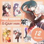 Pack Renders #8 D.Gray-man [Allen and Lenalee]