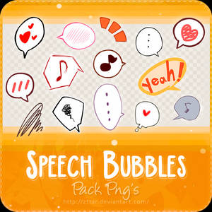 Pack Png's #7 Speech Bubbles