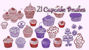 21 Cupcake Brushes by AleidraHawk