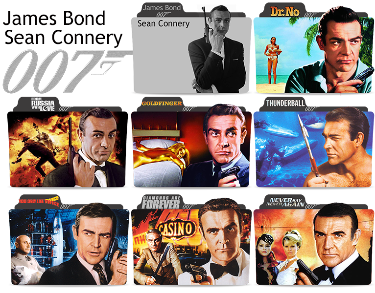 James Bond movies Sean Connery folder icons by Engelyna on DeviantArt