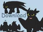 HTTYD Toothless - Shimeji