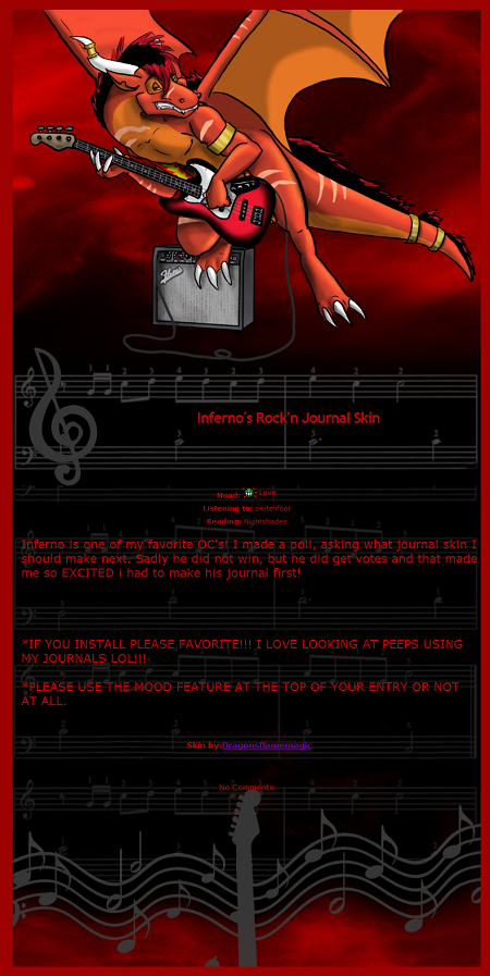 Infernos Rockn Journal Skin by DragonsFlameMagic