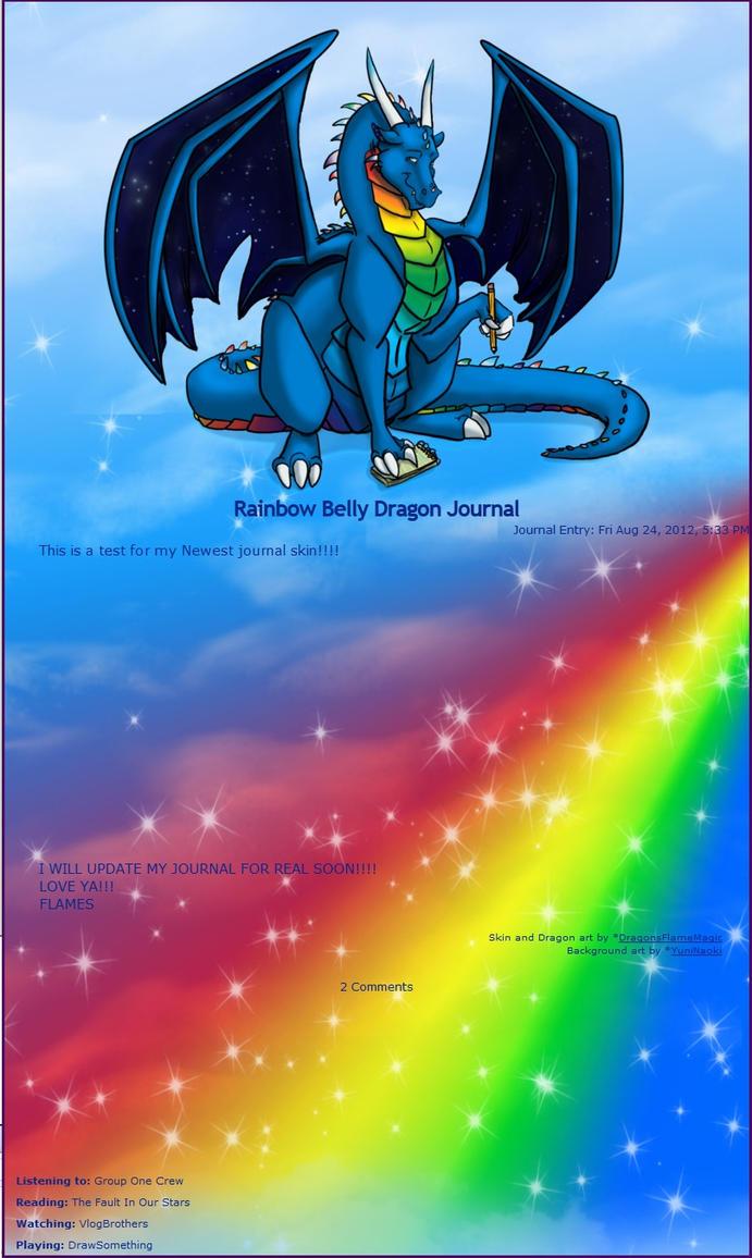 Rainbow Belly Dragon Journal Skin by DragonsFlameMagic