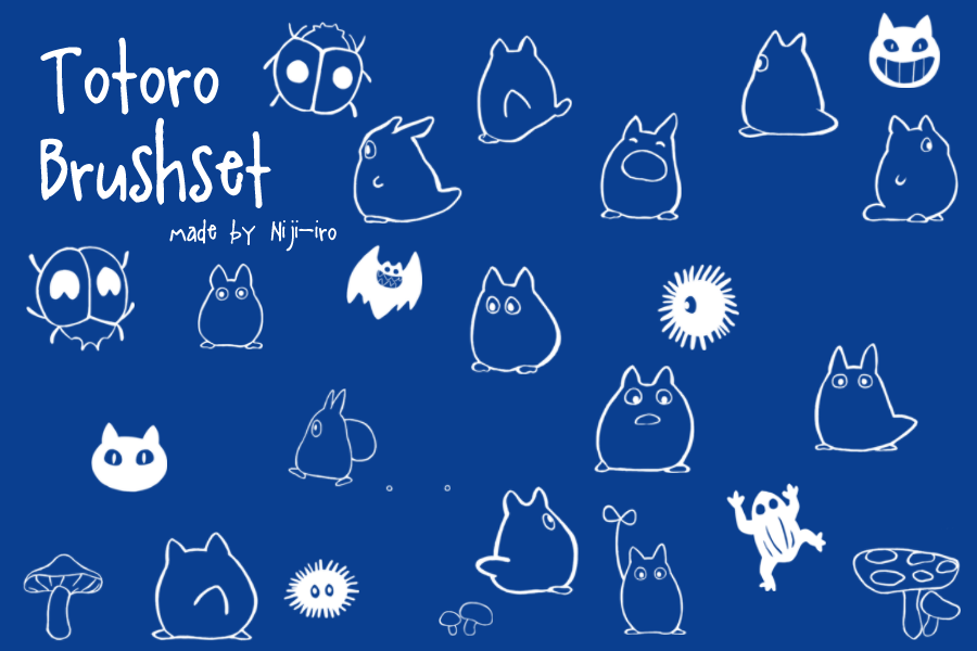 Totoro Brushset by Niji-iro