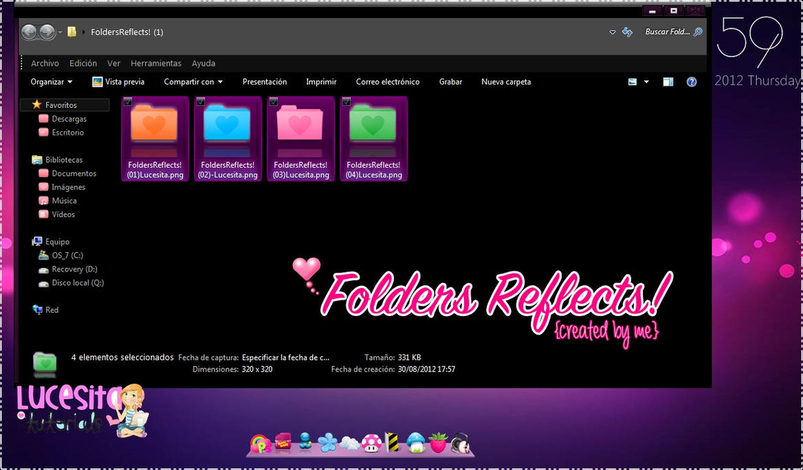 FoldersReflects .PNG~By:Lucesita by LucesitaEditions