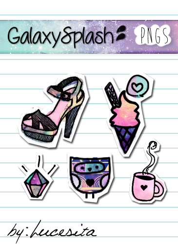 GalaxySplash Pngs by Lucesita by LucesitaEditions