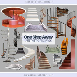 One Step Away Aesthetic PNG Pack