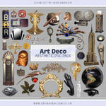 Art Deco Aesthetic PNG Pack