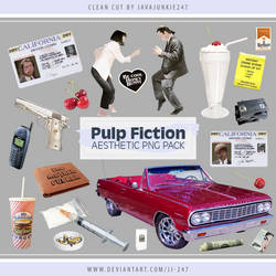 Pulp Fiction Aesthetic PNG Pack