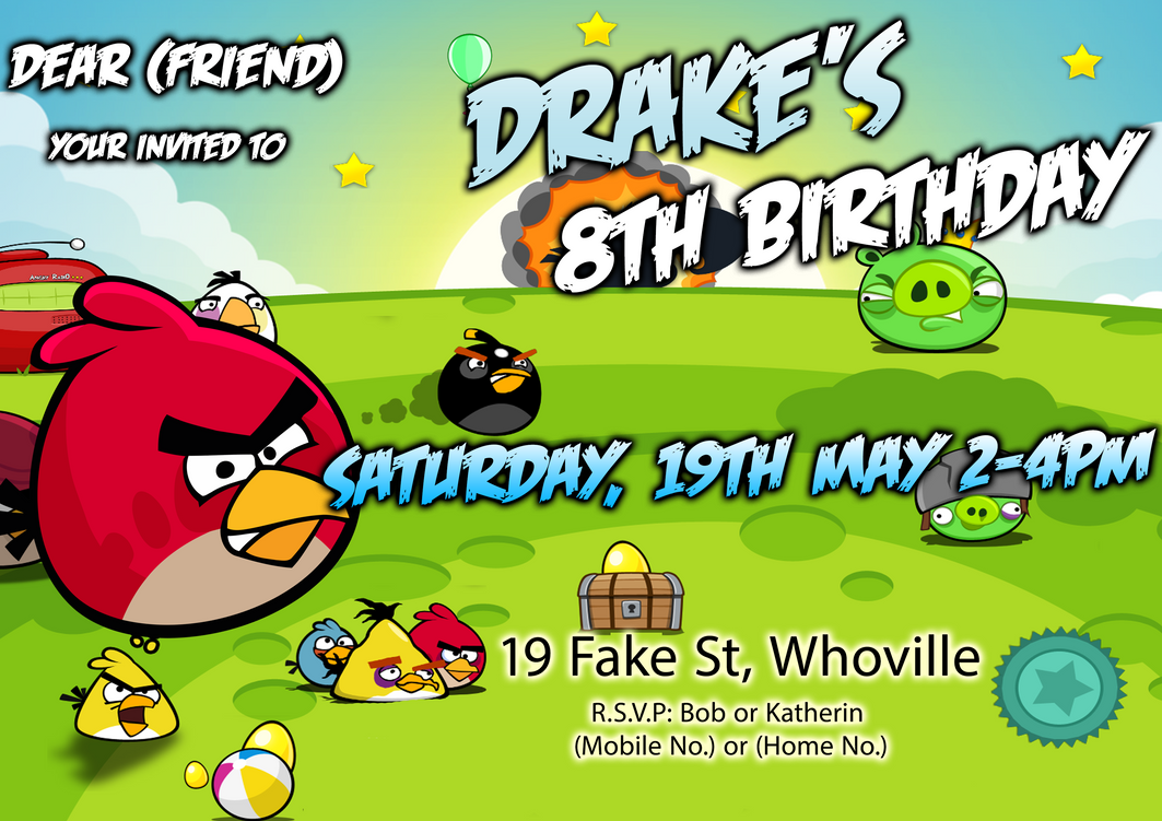 Angry birds birthday invitation by samsimpson11 on deviantart angry birds birthday invitation by samsimpson11 filmwisefo