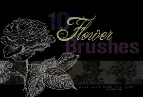 Vintage Flower Brushes for GIMP by SirProngs