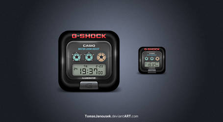 G-shock icon by TomasJanousek