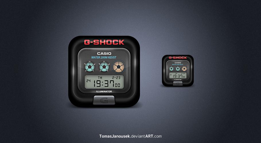 G-shock icon by TomasJanousek