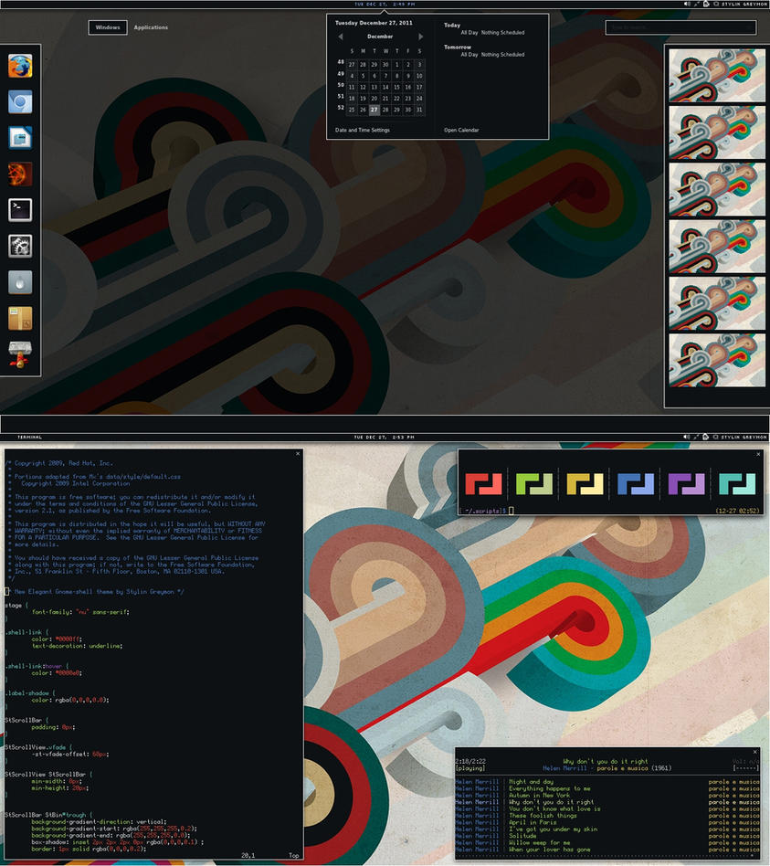 New Elegant theme for Gnome-shell by Flygon-Jinn