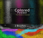 Colored Powder  Dust or granules