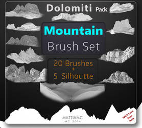 Mountain Brush Set Pack - Dolomiti 25 Brushes