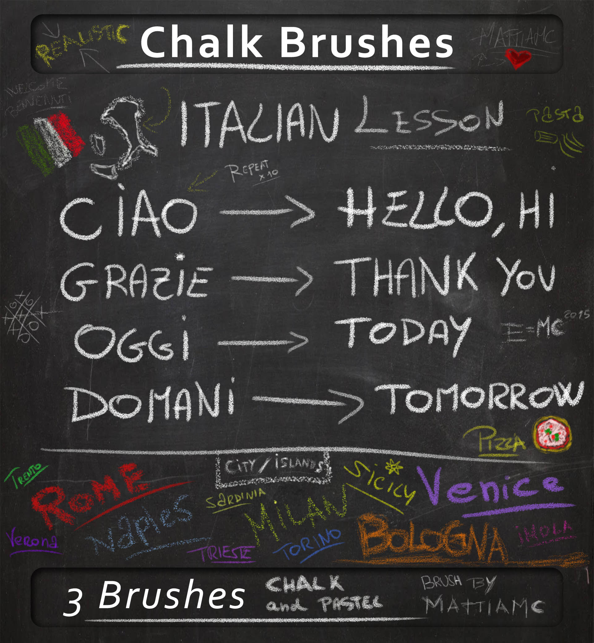 Chalk Brush for any situation  chalk and pastel