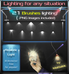 21 LIGHTING BRUSHES and PNG Images by MattiaMc