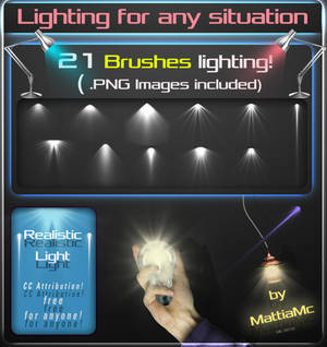 21 LIGHTING BRUSHES and PNG Images
