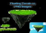 Floating Terrain Mountain 02  PNG + Bonus