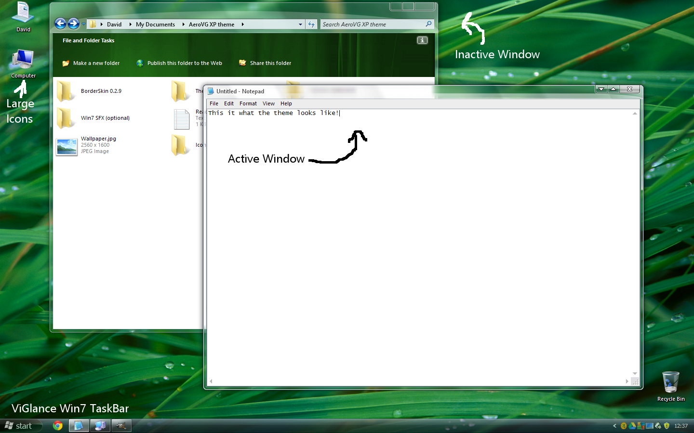 AeroVG for Windows XP