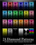 24 Diamond Patterns