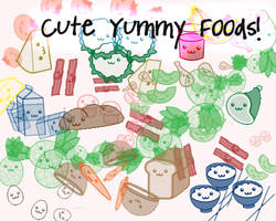 Cute Yummy Food Brushes by yunjae777