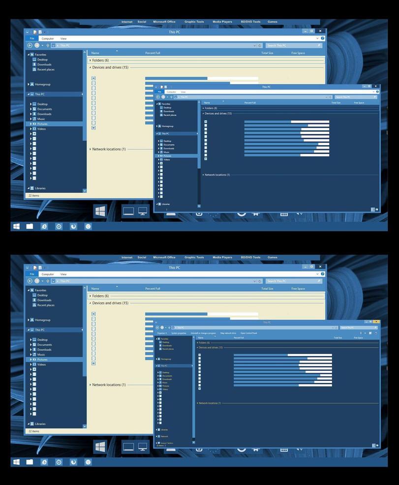 Metro Blue Theme for Win8/8.1