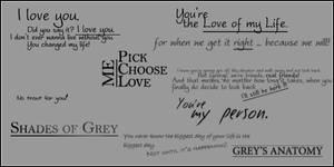Grey's Anatomy brushes