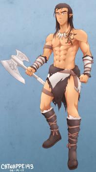 Ereinion mac Airt, Barbarian Elf