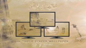NewYork 2158 - 4K 3xScreen Photomanipulation