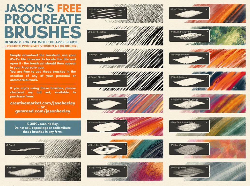 Jason's FREE Procreate brush set by JasonHeeley on DeviantArt