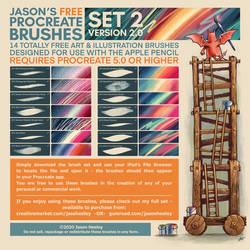Jason's FREE Procreate Brushes - Set 2 - UPDATED!