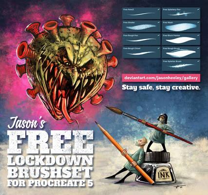 Jason's FREE Lockdown Brush Set for Procreate