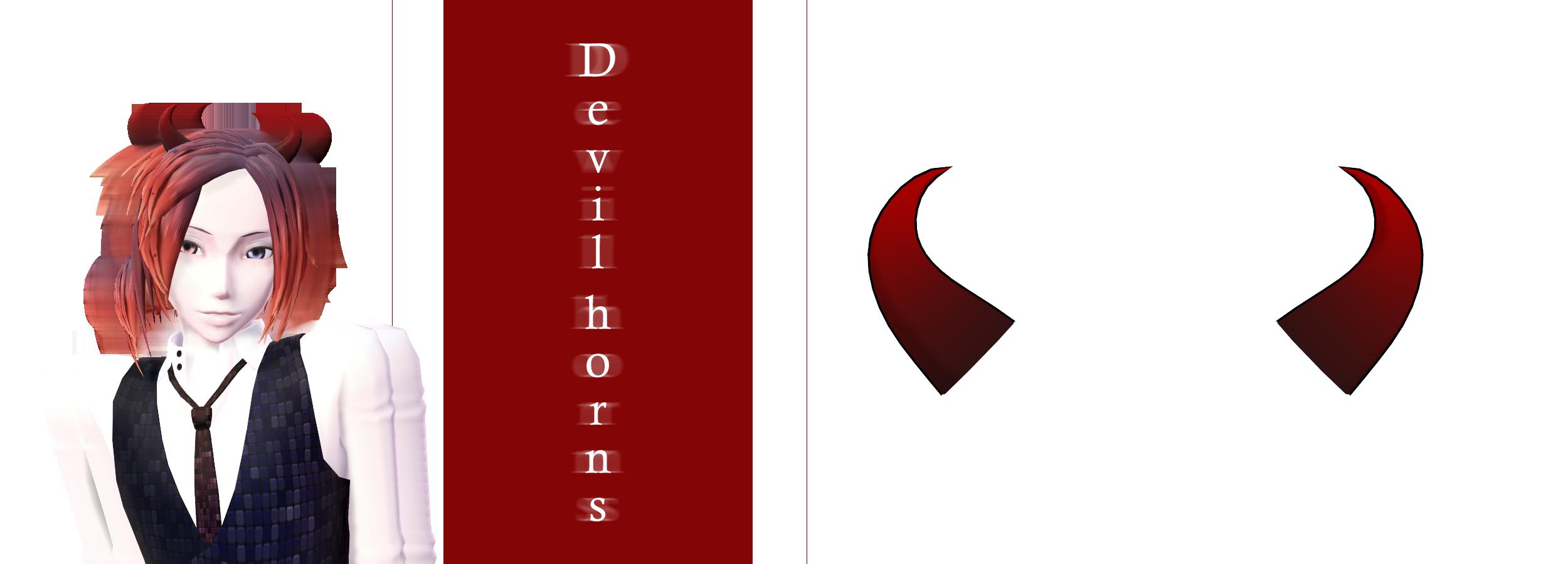 [MMD] Devil horns DL by JoanAgnes on DeviantArt