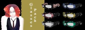 [MMD] Glasses pack 3 DL