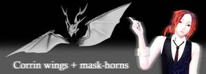 [MMD] Corrin wings + mask-horns
