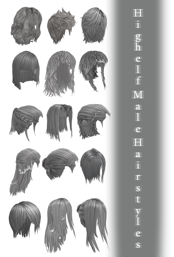 Mmd Highelf Male Hairstyles Dl By Joanagnes On Deviantart