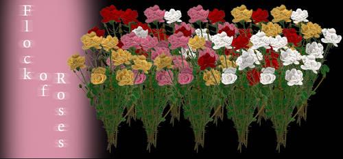 [MMD] Flock of Roses - DL