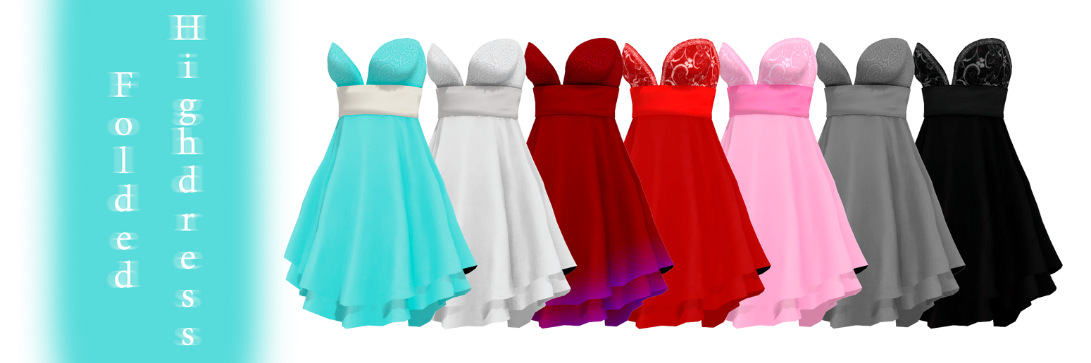 [MMD] Folded Highdress - DL by JoanAgnes