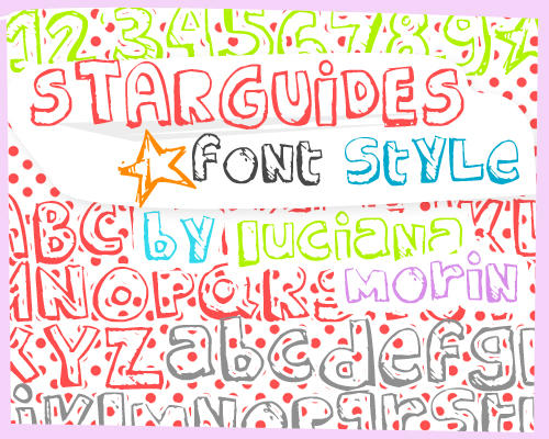 STARGUIDES FONT STYLE by LucianaMorin