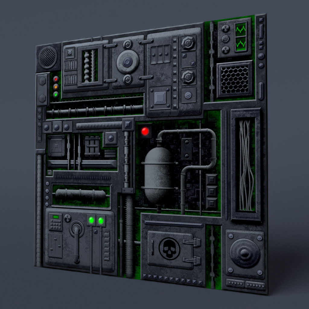 Industrial or Sci fi panel 01 by DeepBlueDesign on DeviantArt