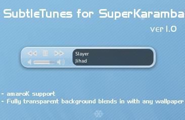 SubtleTunes for SuperKaramba by motsrox