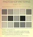 Photoshop Pattern Set 1 - Scan Pattern